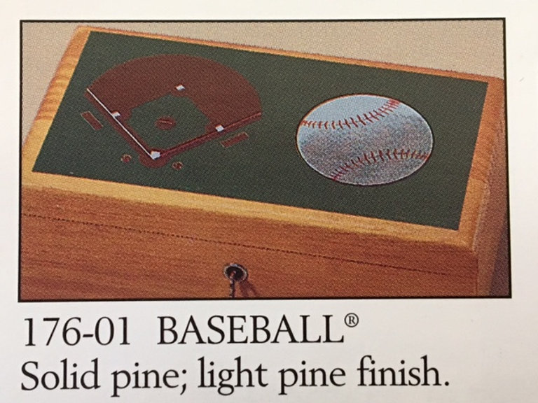 Lane cedar box - Baseball