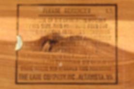 Lane box branded bottom
