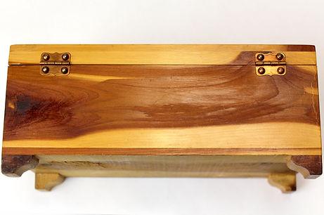 Lane cedar box nailed in hinges
