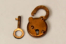 Lane Cedar box Padlock and Key