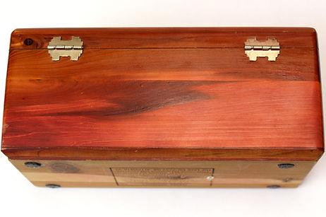 Lane cedar box lock - screwed in