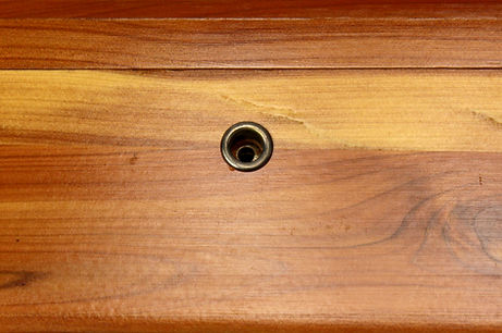 Lane cedar box key hole