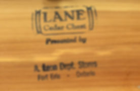 Lane Cedar Box lid logo - Canadian