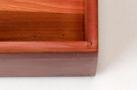 Lane cedar box joinery