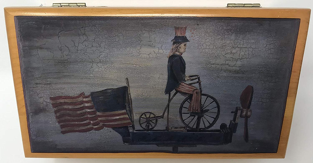 Lane cedar box Uncle Sam