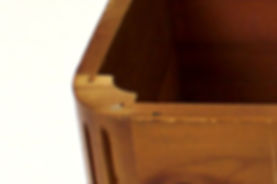 Lane cedar box rounded corner joinery