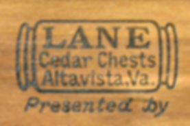 Lane Cedar Box lid logos