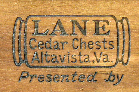 Lane Cedar Box lid logos