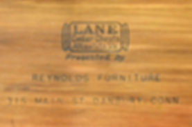 Lane Cedar Box lid logo