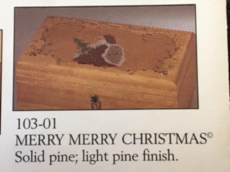 Lane cedar box Santa Claus