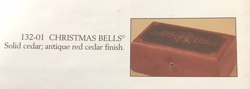 Lane cedar box Christmas Bells