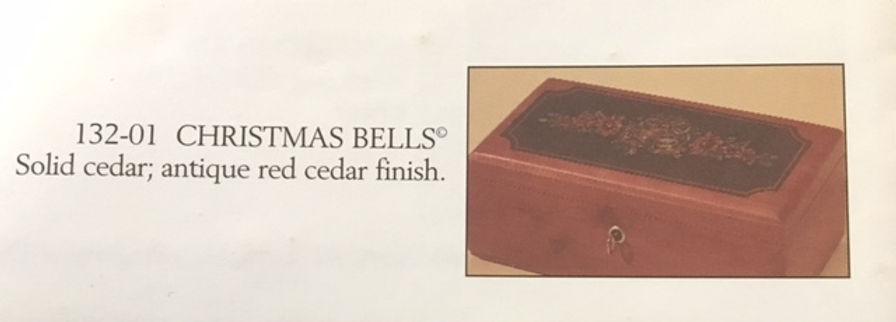 Lane cedar box Christmas Bells