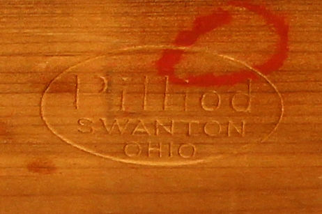 Pilliod cedar box bottom logo