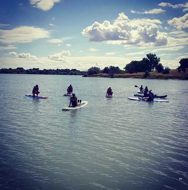 Great SUP class today! #outdoors #anchorfitnessllc #outdoorfitness #sup  _bighornwild