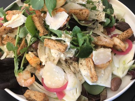 Shaved Fennel Caesar Salad