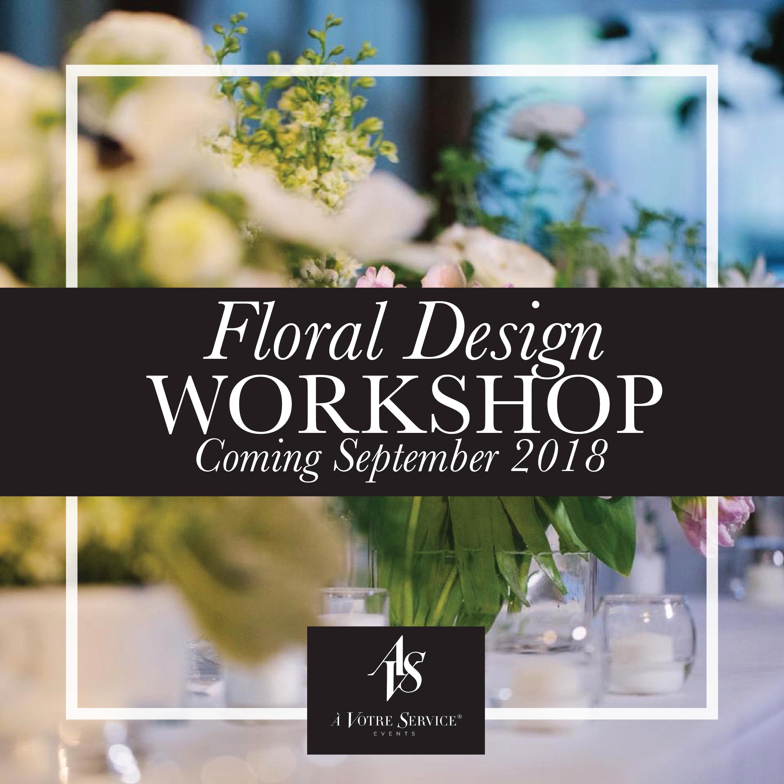 Floral Design Invite