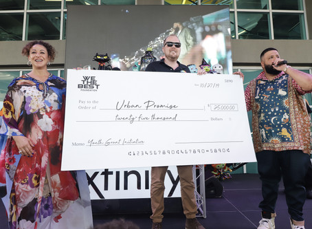 We The Best Foundation Awards Urban Promise with $25,000 Check
