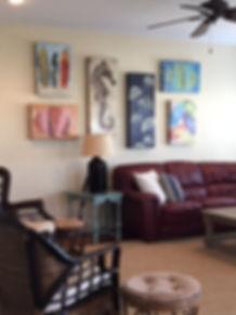 Living Room Pirates Beach HOuse Galveston Home Rental