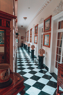 The hallway in one of the most iconic ho