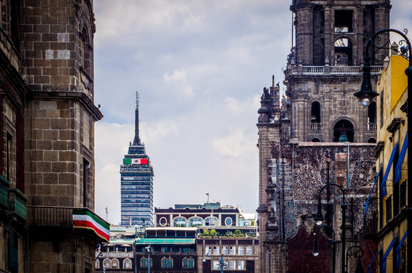 The Latin-American Tower in Zocalo, Mexi