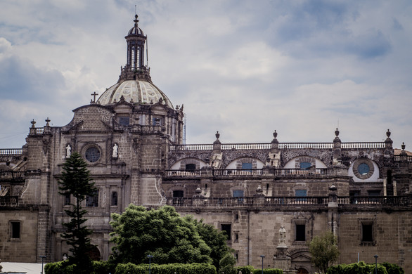 The Metropolitan Cathedral in Mexico Cit