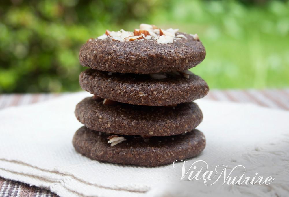 cookies vegano de chocolate e castanhas