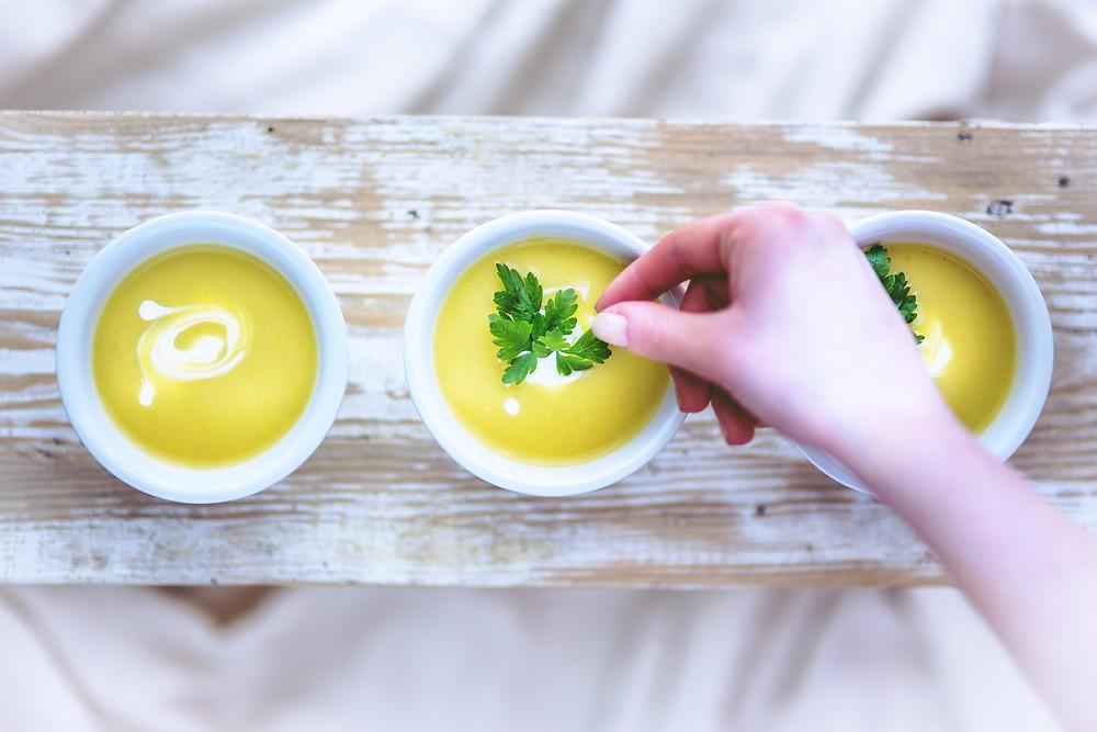 receita vegana para o jantar caldo