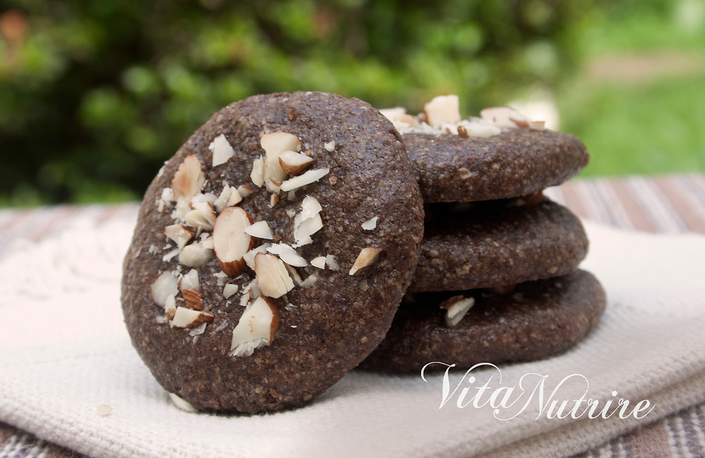 cookie vegano de chocolate e castanhas