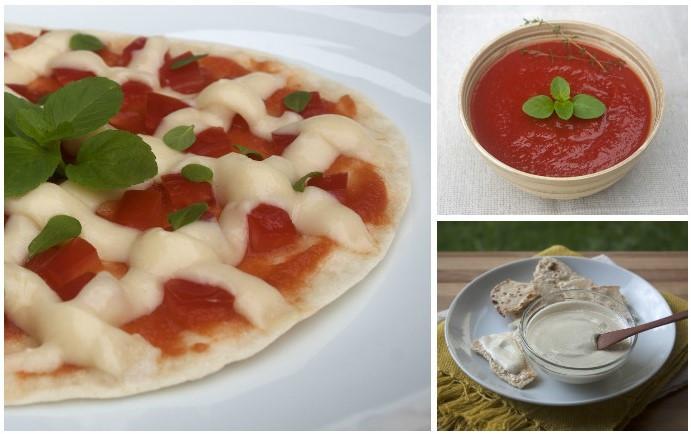 Pizza de Frigideira Vegana com Molho de Tomate e Requeijão Vegano