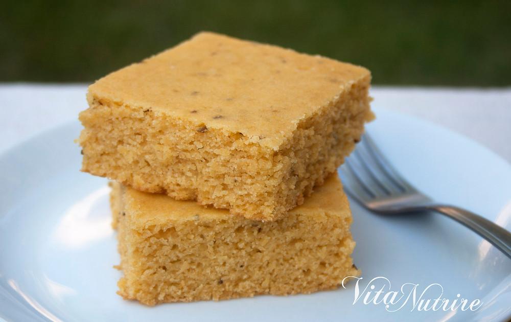 vegan cornmeal cake