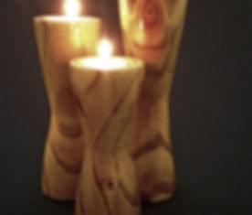 handcrafted handmade wooden candle holder