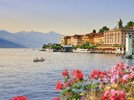 Paseando por el lago Como en Italia