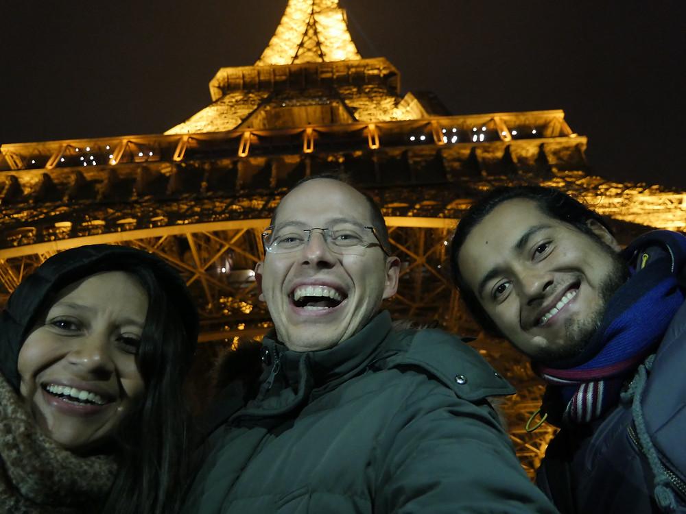 Con mis amigos de Viajefest, congelandonos! jejeje