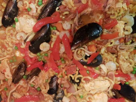 Fideua repotenciado: Comida española