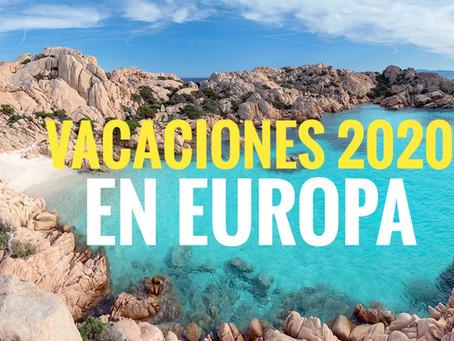 Vacaciones 2020 en Europa | viajando en pandemia