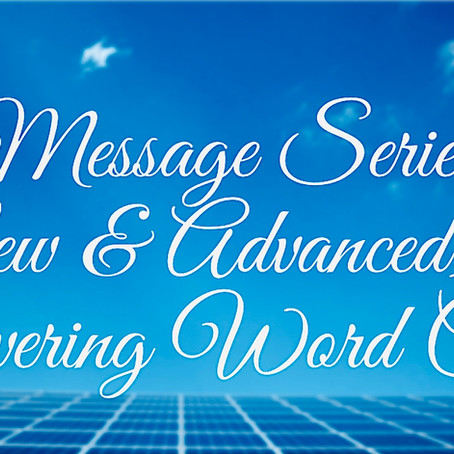 Message Series (New & Advanced) Week 1