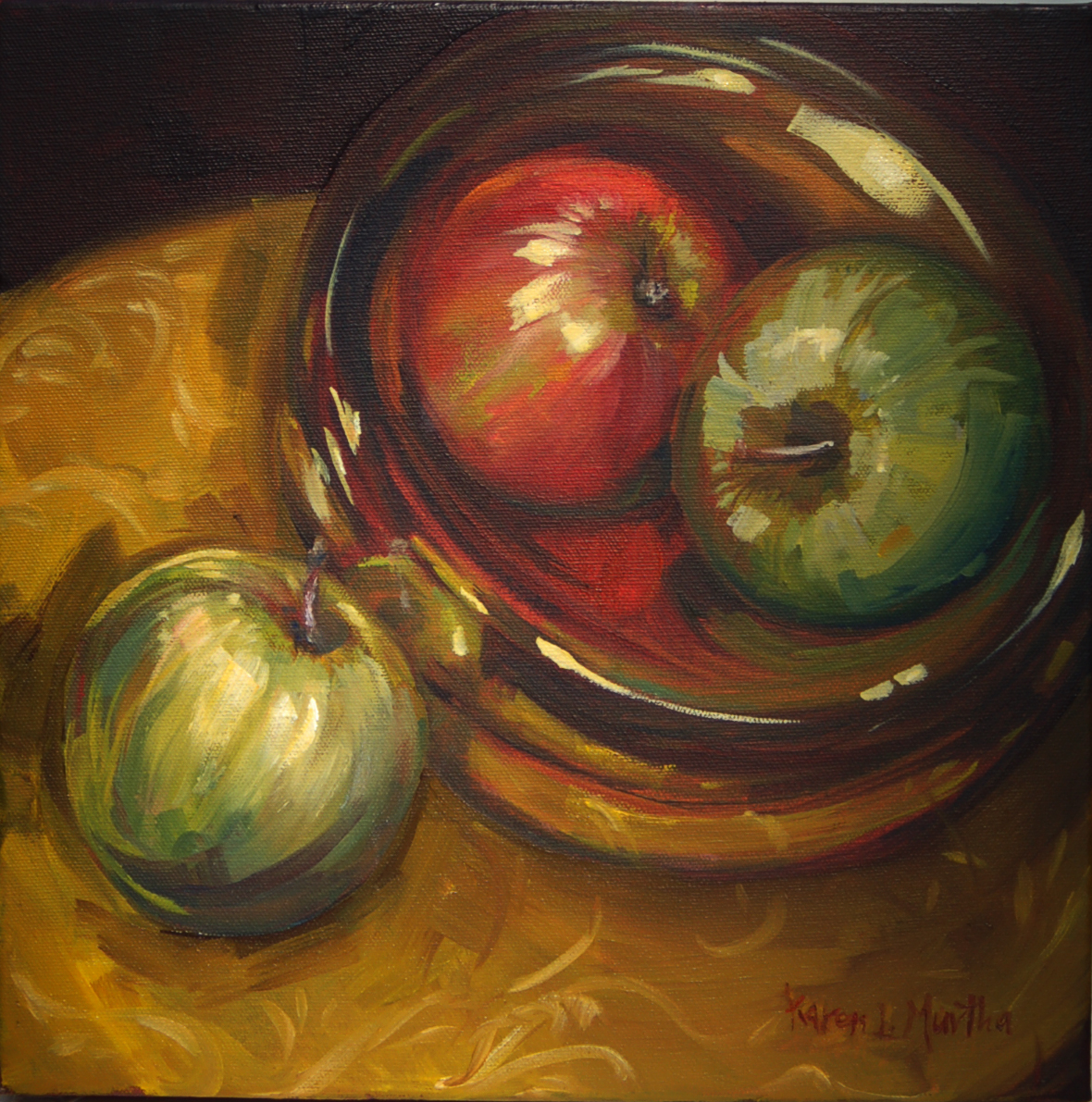 just a bowl of apples