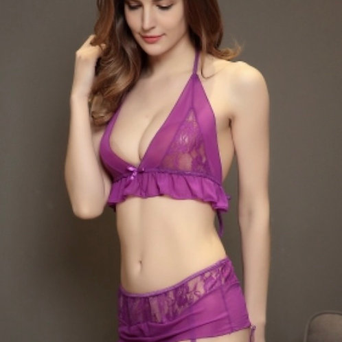 Neck hung with sexy lingerie