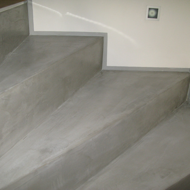 Polished Cement Staircase