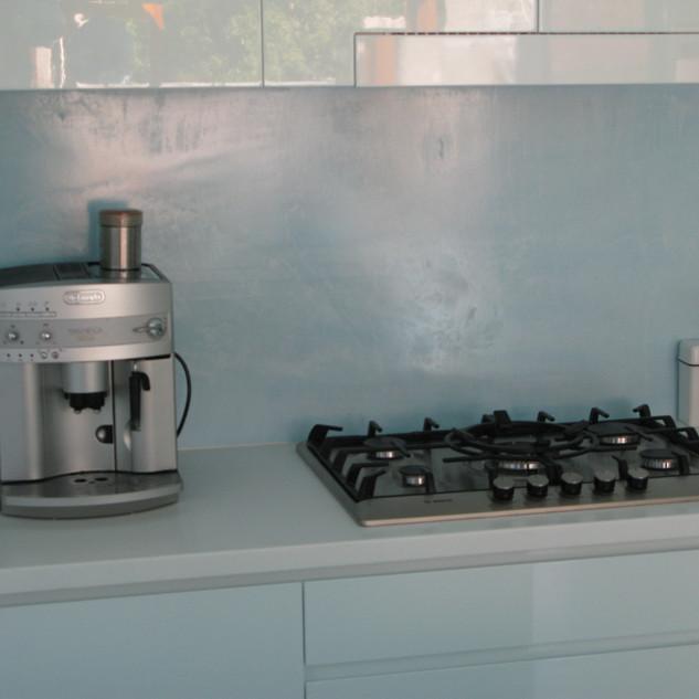 Polished Cement Kitchen Splashback