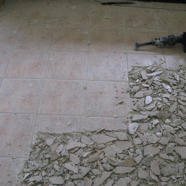 Floor Preparation - Tile Take Up and Removal