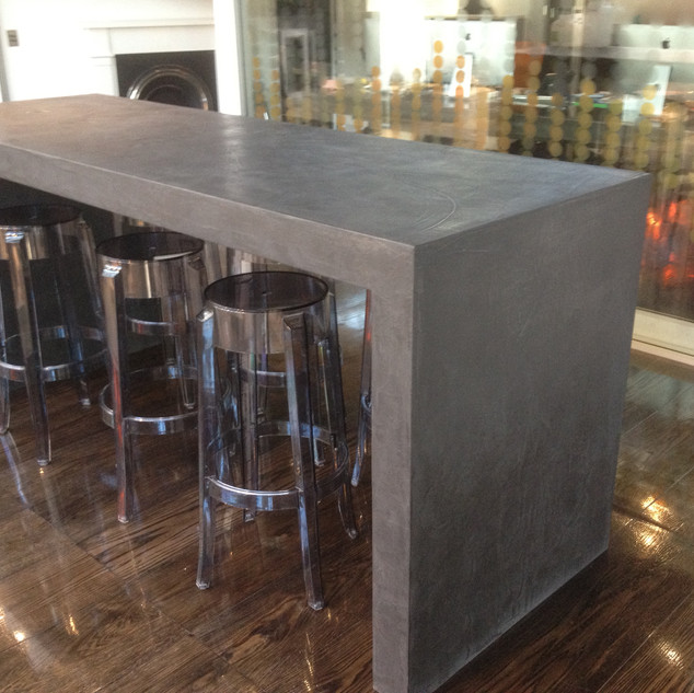Repurposed Polished Cement Furniture