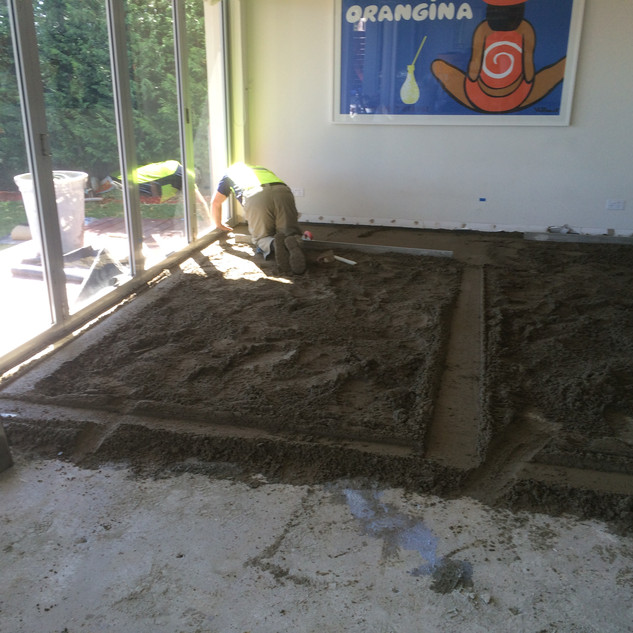 Floor Preparation - Screeding