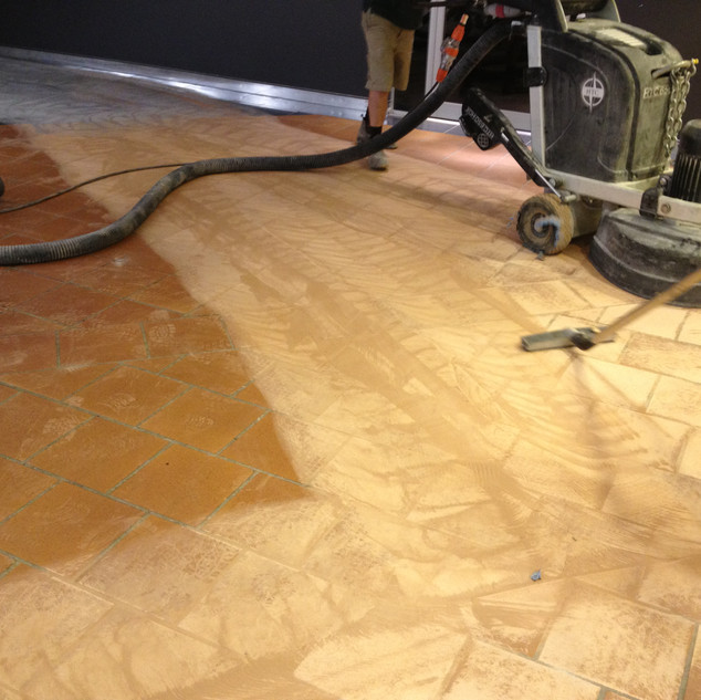 Floor Preparation - Tile Grinding