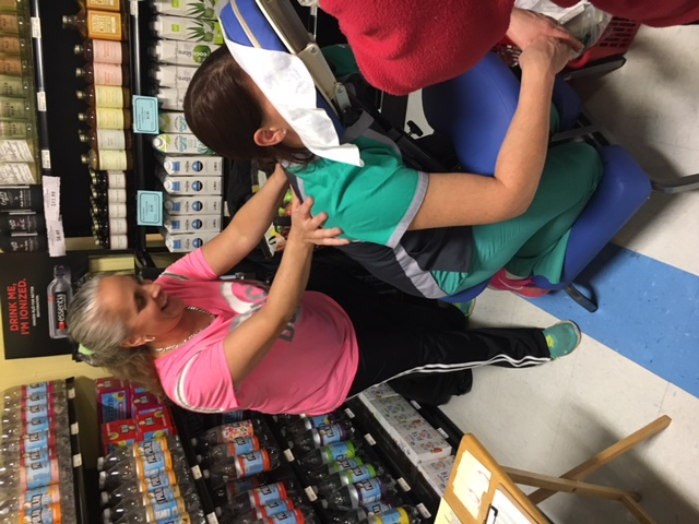 free massages at store event