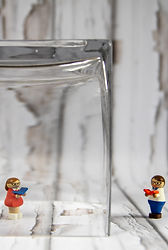 Canva - Lego Toy in Clear Glass Containe