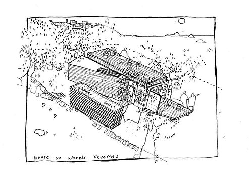 House on Wheels Eco Retreat - sketch desig