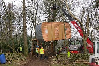 Brockloch Treehouse  Construction
