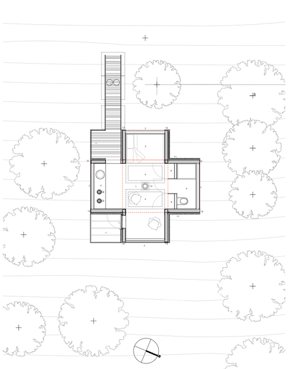 Tree House plan 1:50