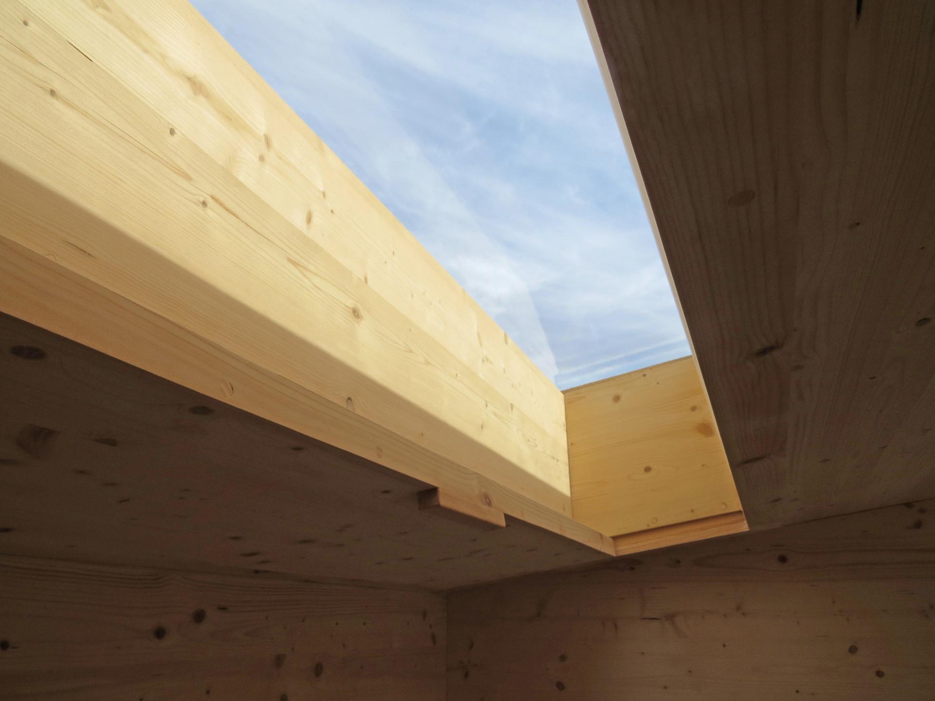 Step Down Cabin - Secret Studio: skylight detail